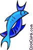 Vector Clipart graphic  of a fish symbols