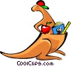 Vector Clipart illustration  of a kangaroo