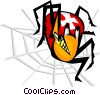 Vector Clip Art image  of a spider