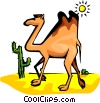 Vector Clip Art picture  of a camel