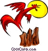 Vector Clipart illustration  of a rooster