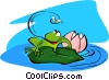 Vector Clip Art picture  of a frog