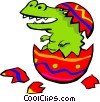 Baby alligator Vector Clipart image