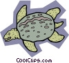 Vector Clip Art graphic  of a prehistoric animal concept