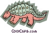 Vector Clipart picture  of a Prehistoric animal concept