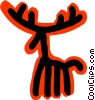 Vector Clipart picture  of a reindeer concept