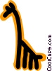 Vector Clipart picture  of a giraffe concept
