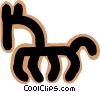 Vector Clipart graphic  of a horse concept