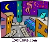 city night life Vector Clipart picture