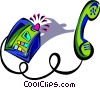 Vector Clipart graphic  of a communication telephone