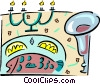 Vector Clipart graphic  of a dining