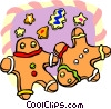 Vector Clipart picture  of a gingerbread men