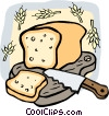 Loaf of bread Vector Clip Art image