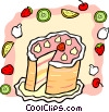 Vector Clipart image  of a cake with fruit
