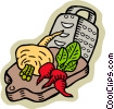 Vector Clipart graphic  of a Vegetables with grater on