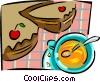 pie and soup Vector Clip Art picture