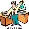 Vector Clipart picture  of a stock market man - cartoon