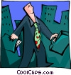 Vector Clipart graphic  of a modern man in the city