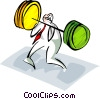 Vector Clip Art image  of a business/training