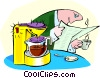 morning coffee Vector Clipart graphic