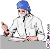 Vector Clipart illustration  of a Medical professional