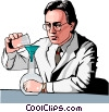 Vector Clip Art image  of a Medical professional