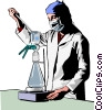 Vector Clip Art graphic  of a medical professional