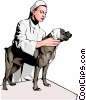 Vector Clip Art image  of a veterinary