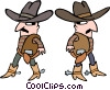 cowboys Vector Clipart picture