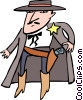 Vector Clip Art image  of a old west/cowboy