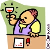 Vector Clipart picture  of a bartender