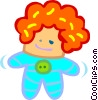 Vector Clipart image  of a doll