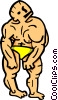 Vector Clipart illustration  of a bodybuilding