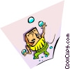 juggling Vector Clipart picture