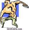Vector Clip Art picture  of an athletics