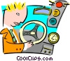 driving Vector Clipart illustration