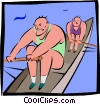 rowers Vector Clip Art graphic