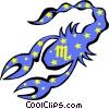 Vector Clip Art graphic  of a Scorpio symbol