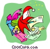 Vector Clip Art graphic  of a Christmas