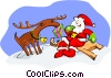 Vector Clip Art image  of a Christmas