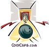 Vector Clipart illustration  of a bowling