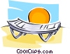beach chair Vector Clipart illustration