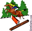 sports, horse jumping, equestrian Vector Clipart picture