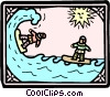 Vector Clip Art picture  of a medieval surfers