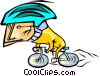cyclist Vector Clip Art graphic