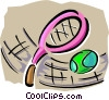 Vector Clip Art graphic  of a racket sports