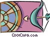 Vector Clipart graphic  of an archery
