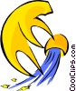 Vector Clip Art graphic  of an Aquarius symbol