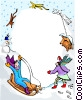 Vector Clip Art image  of a winter fun design