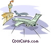 Vector Clipart picture  of an airport